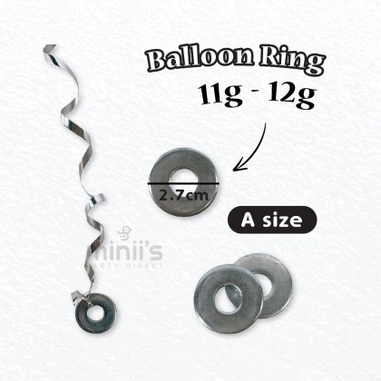 Miniis 1pcs Round Metal Helium Balloons Weights Ring for Balloon Birthday Party Decoration 11g-12g 19-20g