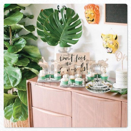 Miniis 1st Birthday Wild One Birthday Party Supplies Decorations Jungle Theme Party Kit For 10 Guest