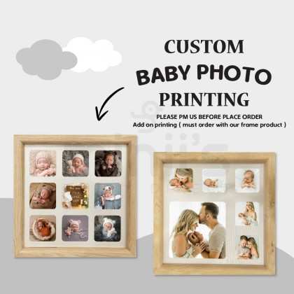 Miniis Printing Service For Photo Frame Handprint Frame -Must Order With Matching Product