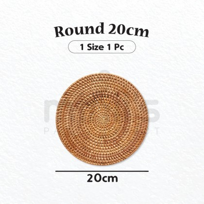 Miniis Natural Rattan Coasters Round Oval Shape Creative Gift for Coffee Glass Drink Tea Mat Decoration Rattan Heat Insulation Placemats