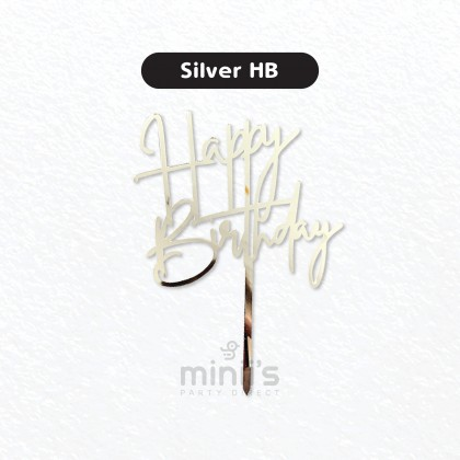 Miniis Arcylic Cake Topper Happy Birthday Cake Decoration Party Supplies For Birthday Party Cake Desserts Pastries