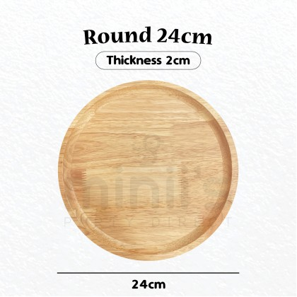Miniis Natural Japanese Style  Oak Wood Round Square Rectangle Plate Serving Tray Tableware Decoration For Cake Dessert Hotel Use