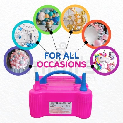 Miniis Manual Auto Electric Balloon Blower Balloon Air Electric Pump Portable Dual Nozzle For Party Decoration Events
