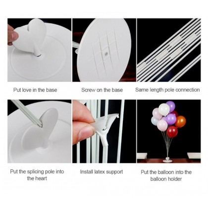 11 in 1 Plastic Balloon Base  Plastic Balloons Stand Holder Stick Stand WITHOUT HELIUM GAS