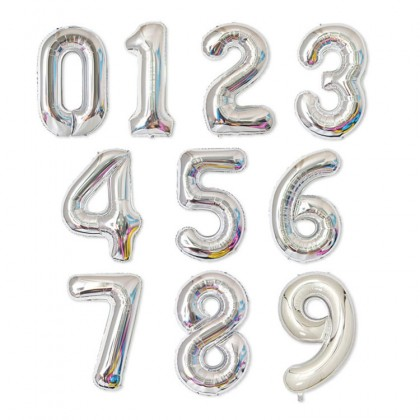1 Pcs 32 inch  0-9 Numbers Foil Balloon Wedding Anniversary Birthday Decor ROSE GOLD RAINBOW GOLD SILVER
