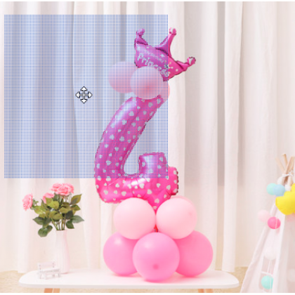 115cm  Numbering Huge Balloon Stand With Crown Pink And Blue Rose Gold 32 Inch Number Foil Balloons