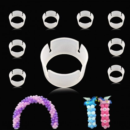 Miniis 10 PCS 50PCS Balloon Ring Clips for Balloon Arch and Balloons Column Stand Party Decoration Accessory