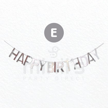 Miniis INS Happy Birthday Letter Banner Gold Silver Paper  Flag Decoration
