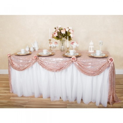 Miniis Premium Sparkle 3mm Glitter  Sequin Silver Tablecloth Cover Banquet Table Photography background Decoration