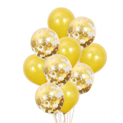 INS Style 10 PCS 12 inch  Latex Confetti Balloon  GOLD/ ROSE GOLD Party Decor