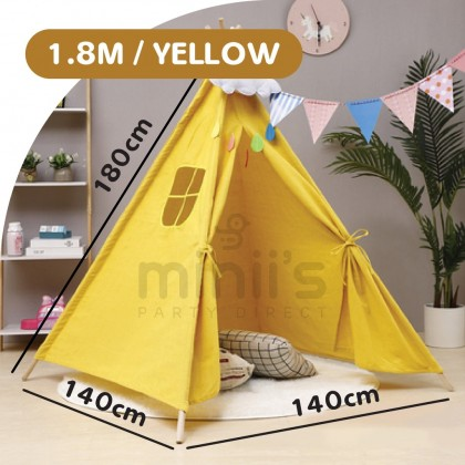Minii's Extra Large Children's Teepee Tent for Boys & Girls, Large Tipi Tents for Toddler Kids Baby Boy Adult Children