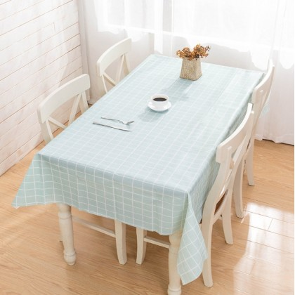 Minii's Checkered PVC Rectangle Tablecloth 100% Waterproof Spillproof Stain Resistant Wipeable Vinyl Table Cloth