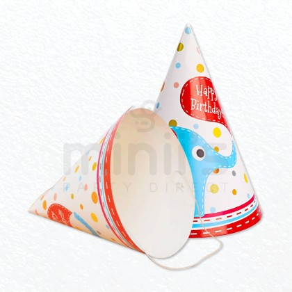 Miniis 10 pcs Happy Birthday Party Paper Cone Hat  Birthday Paper Hats Cuties for Boys and Girls