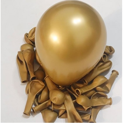 """10 pcs Neo Latex Balloon Metallic 5"""" inch Latex Shiny Chrome Balloons, Multicolor Silver Gold Red Green Blue Rose Gold Pearl"""