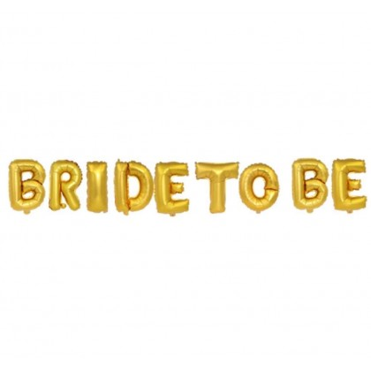 Miniis 16inch Diamond Gold BRIDE TO BE Letter Foil Balloons for Wedding Party Bride To Be Hen Bachelorette Sash Head Band