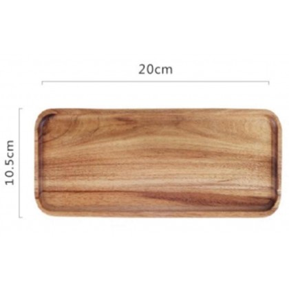 Minii's Natural Wood Serving Tray Plate Steak Plates Natural Rectangularfor Cheese Appetizer Wooden Party Tableware