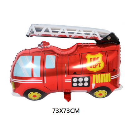 Minii's Construction Party Supplies Kits, Dump Truck Fire Truck Theme Birthday Decoration Pack, Truck Themed Happy Birthday Banner, Cupcake Topper, Mylar Foil and Latex Balloons for Kids Party Decor