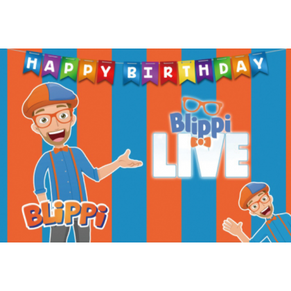 Minii's Kids Youtube Cartoon Birthday Theme Party Background Banner Backdrop for Children Party Decoration Baby Shark Cocomellon Blippi