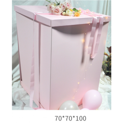 Miniis Extra Large 70*70*100 Jumbo Flower Gift  Surprise Box  for Surprise  Pink, White, Gold ,Black BOX ONLY