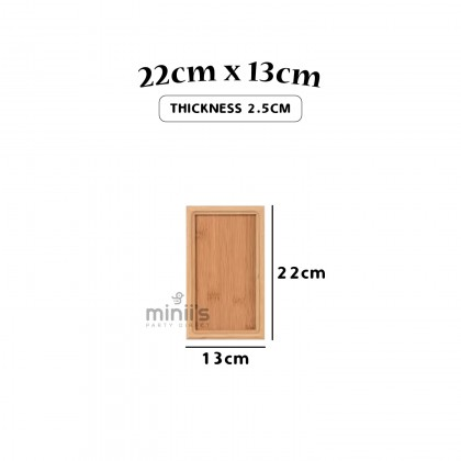 Miniis Bamboo Plate Bamboo Tray Rectangle Serving Tea Tray For Breakfast in Bed, Lunch, Coffee Table, Party, Birthday